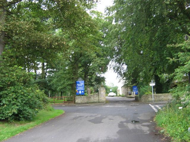 Entrance to Hallgarth Manor Hotel