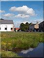 NZ1131 : Hamsterley; pond and village hall. by Trevor Littlewood