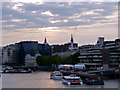 TQ3380 : River Thames and City of London by Christine Matthews