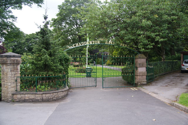 Park gates at Chadderton Hall Park