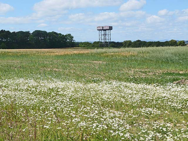 Water tower near Tranwell