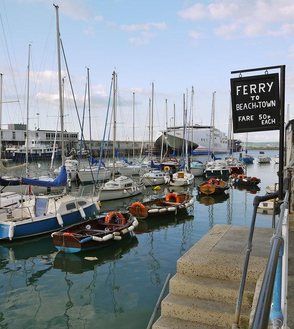 Ferrymans steps Weymouth harbour