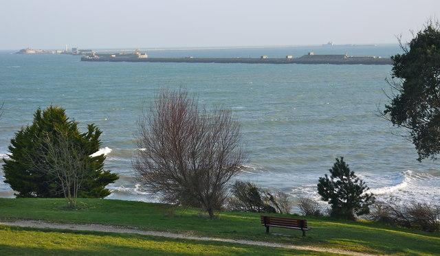 Looking towards the Portland Breakwater