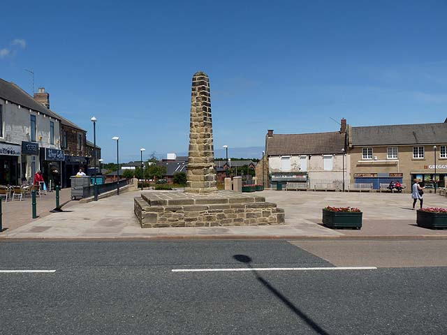 Bedlington Market Place and Market Cross