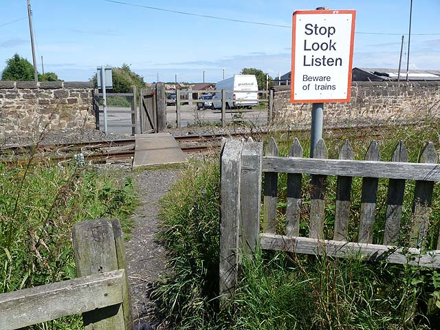 Pedestrian level crossing, near Bedlington Station