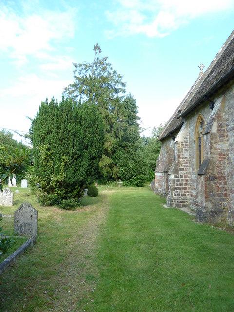 The graveyard at All Saints church, Awbridge (vii)