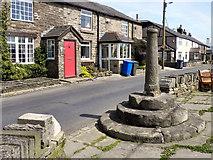 SD7513 : Affetside Cross, Watling Street by David Dixon