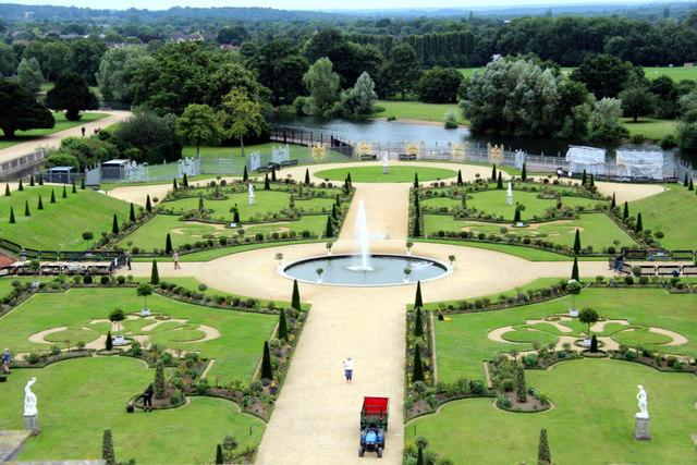 Roses In Garden: Formal Garden, Hampton Court Palace,... © Christine