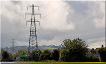 J3673 : Pylon and power lines, east Belfast (12) by Albert Bridge