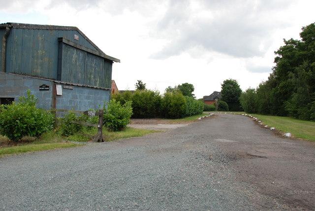 Barn and Drive, Hurst Farm, Broad Lane