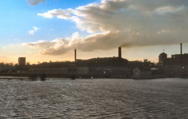 John Smith's Brewery and River Wharfe, Tadcaster