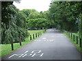 TQ2290 : Private road near Copthall Stadium, Mill Hill by Malc McDonald