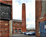 J3673 : Former mill chimney, Belfast by Albert Bridge