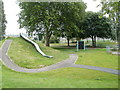 ST3188 : Long slide, Shaftesbury Park play area, Newport by Jaggery