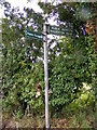TM4463 : Footpath sign on Abbey Lane by Adrian Cable