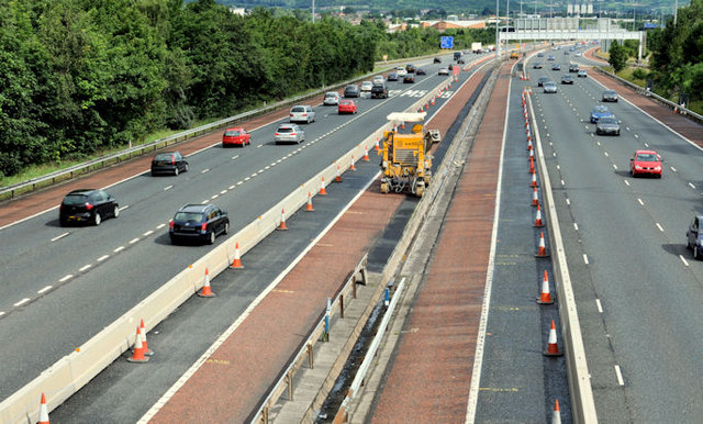 Safety barrier replacement, M2, Belfast (1)