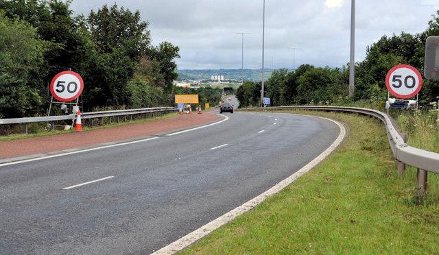 Slip road, Fortwilliam roundabout, Belfast (2)