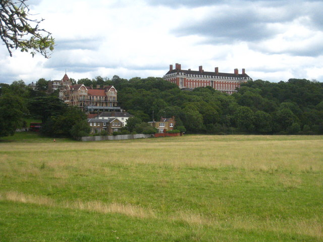 Looking across Petersham Meadows towards Richmond Hill