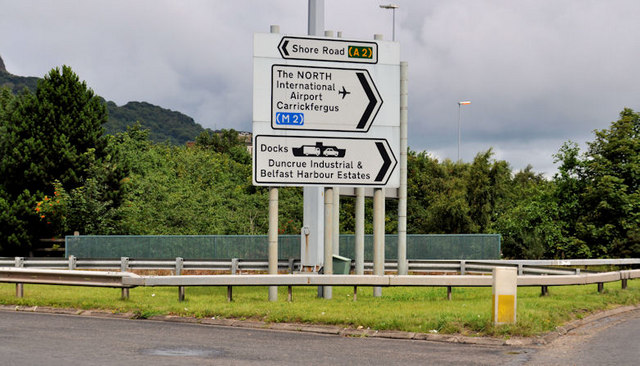 Fortwilliam roundabout sign, Belfast (4)