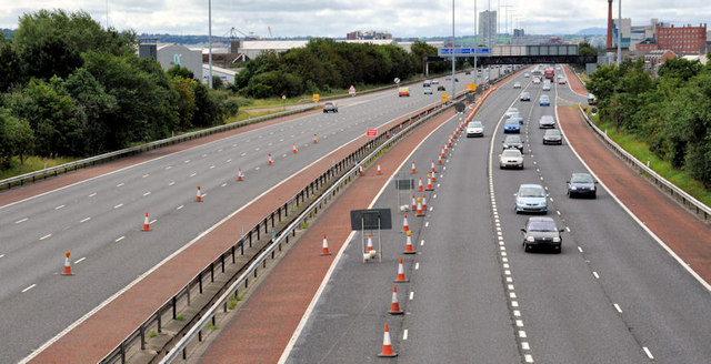 Safety barrier replacement, M2, Belfast (2)