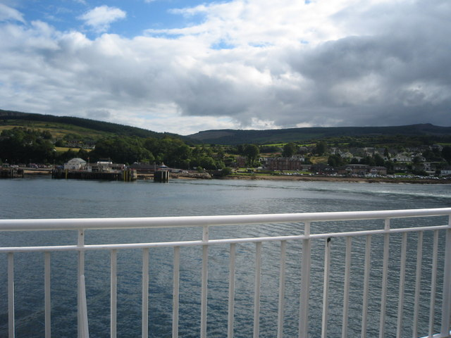 Leaving Brodick on the ferry