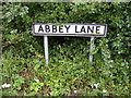 TM4363 : Abbey Lane sign by Adrian Cable