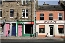 NT4728 : Shops in Selkirk by Walter Baxter