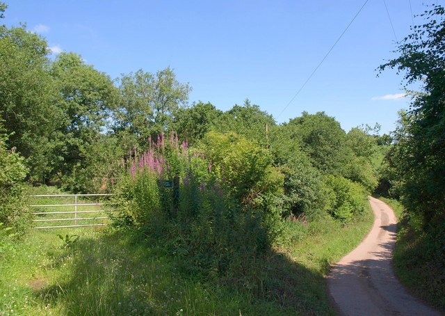 Start of footpath, Spalsbury Farm