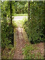 TM2653 : Footbridge of  the footpath to Pound Lane by Adrian Cable