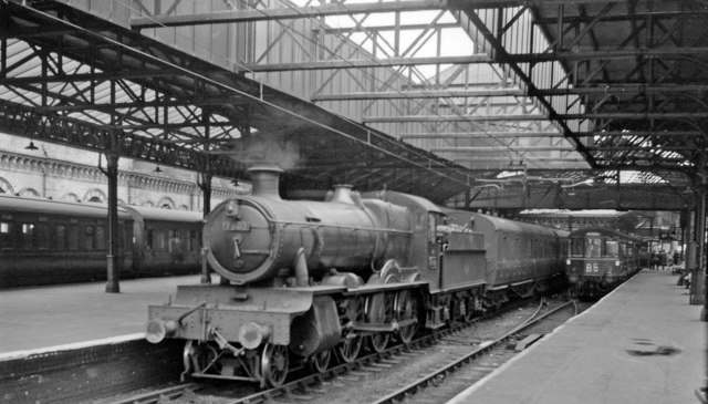 A WR 'interloper' at Crewe, waiting to leave for Wellington