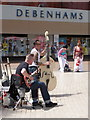 SZ0891 : Bournemouth: musicians in The Square by Chris Downer