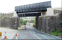 SO2508 : Two new bridges over Varteg Road, Blaenavon by Jaggery
