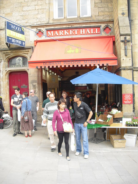 Tourists Outside Durham Indoor Market C Rob Bishop Cc By Sa 2 0