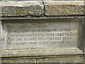 NZ2741 : Sir Walter Scott plaque explaining reasons for Durham's location by rob bishop