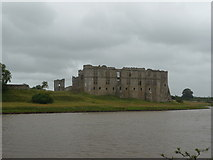 SN0403 : Carew Castle from across the mill pond by Jeremy Bolwell
