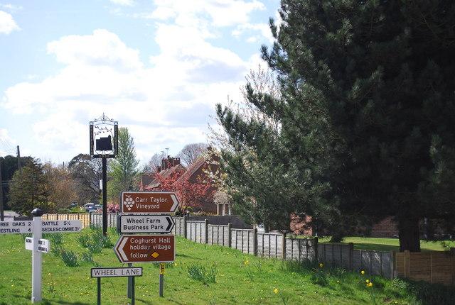 Village sign, Westfield