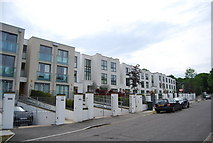 TQ2372 : Apartments, Queensmere Rd by N Chadwick