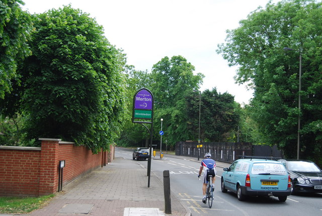 Entering Merton, Wimbledon Park Side
