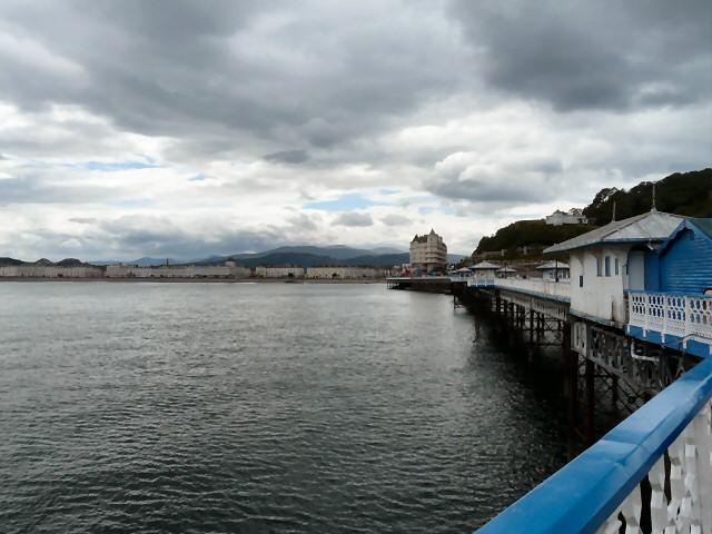 Looking back along Llandudno Pier
