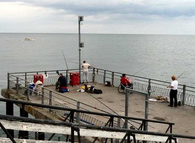 Angling off the pier
