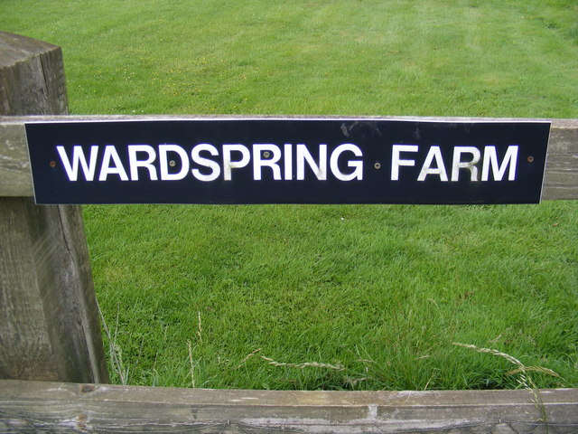 Wardspring Farm sign