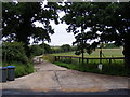 TM4062 : Workhouse Lane Bridleway to Knodishall Level Crossing & entrance to Meadow Farm by Adrian Cable