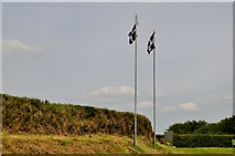 SS2409 : North Cornwall : Cornish Flags by Lewis Clarke