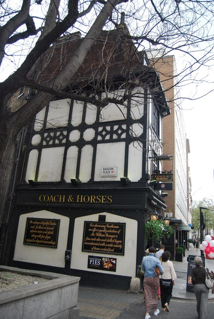 Coach and Horses, Bruton St
