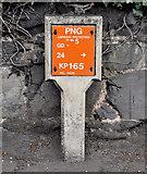 J3876 : Gas pipeline marker post, Belfast by Albert Bridge