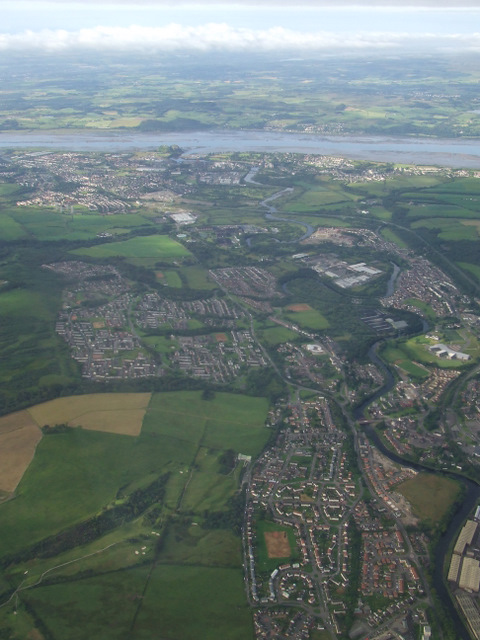 Vale of Leven and the River Clyde from the air