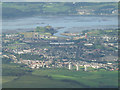 NS4076 : Dumbarton, River Leven and River Clyde from the air by Thomas Nugent