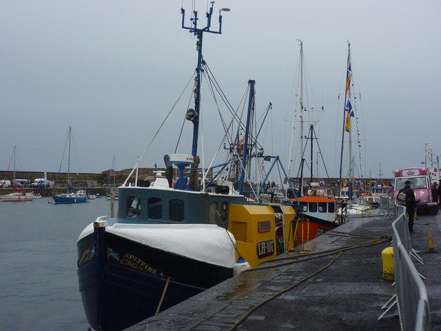 Dunbar Lifeboat Day 2011 : The Home Fleet at Victoria Harbour, Dunbar