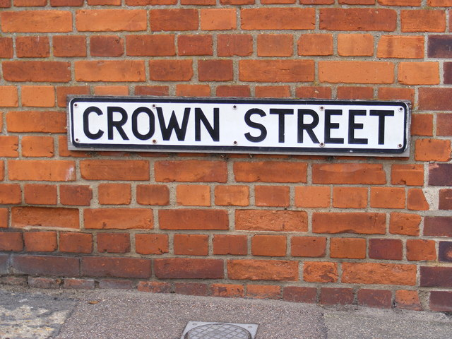 Crown Street Sign 169 Adrian Cable Geograph Britain And