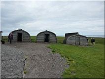 NU1341 : Boat sheds, Lindisfarne Castle, Holy Island by Alexander P Kapp
